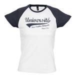 Tee-shirt Baseball Femme blanc marine