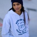 Sweat IUT Blanc chiné/ Bleu Femme