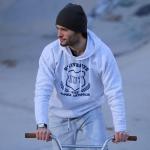 Sweat IUT Blanc chiné/ Bleu Homme